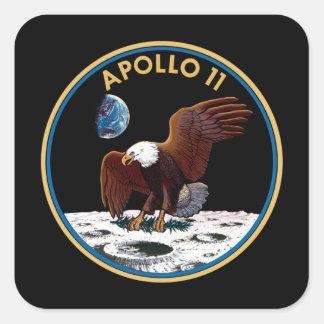NASA Apollo 11 Moon Landing Lunar Patch Insignia Square Sticker