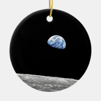 NASA Apollo 8 Earthrise Moon Lunar Orbit Photo Ceramic Ornament