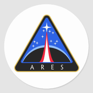 NASA Ares Rocket Logo Classic Round Sticker