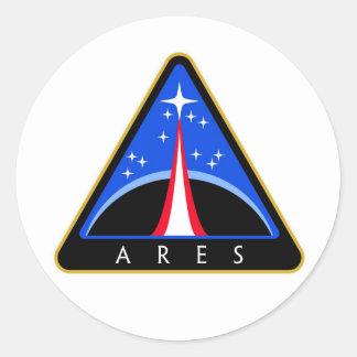 NASA Ares Rocket Logo Round Sticker
