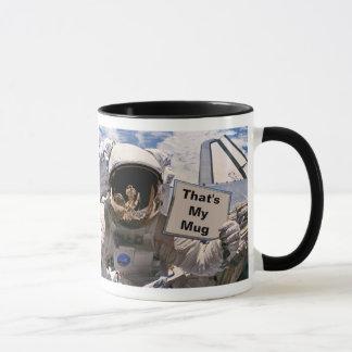 NASA Astronaut Holding Sign - Add Custom Text Mug