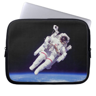 NASA Astronaut Jetpack Spacewalk Earth Orbit Photo Laptop Sleeve