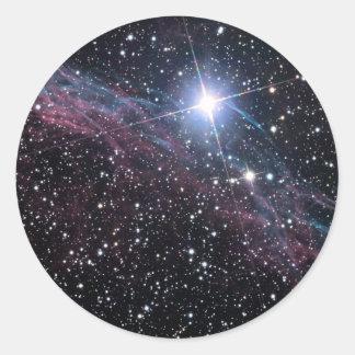 NASA ESA Veil nebula Classic Round Sticker