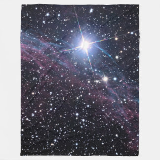 NASA ESA Veil nebula Fleece Blanket