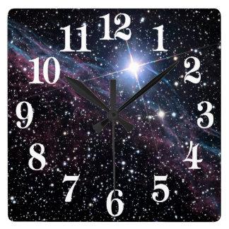 NASA ESA Veil nebula Wall Clock