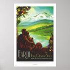 NASA - ExoPlanet Retro Earth Tour Travel Poster