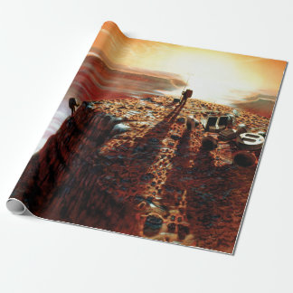 NASA First Trip To Planet Mars Artist Concept Wrapping Paper