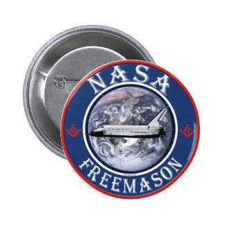 NASA  Freemason 6 Cm Round Badge