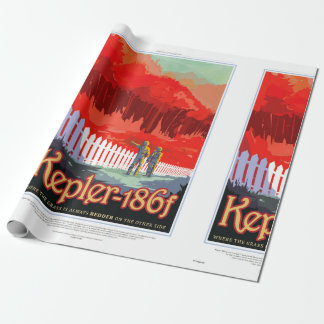 NASA Future Travel Poster - Kepler 186f Wrapping Paper