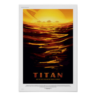 NASA Future Travel Poster - Saturn's Moon Titan