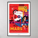 NASA Future Travel Poster - Visit Mars