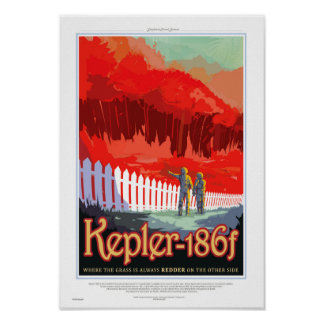 NASA Future Travel Sci Fi Poster - Kepler 186f