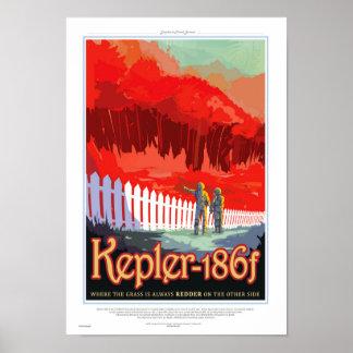 NASA Future Travel Sci Fi Poster - Kepler 186f