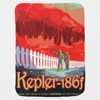 NASA Future Travel Sci Fi Poster - Kepler 186f Baby Blanket