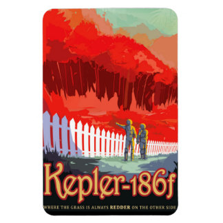 NASA Future Travel Sci Fi Poster - Kepler 186f Magnet
