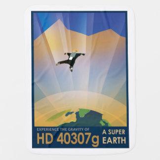 NASA Future Travel Sci Fi Poster - Super Earth Pramblanket