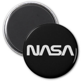 NASA Gray Worm Logo Magnet