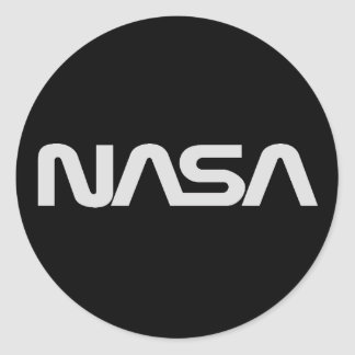 NASA Gray Worm Logo Round Sticker