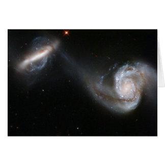 NASA - Interacting Galaxy Pair Arp87 Card