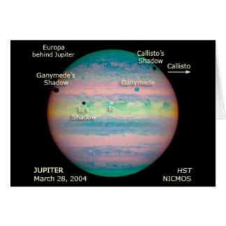 NASA Jupiter Triple Eclipse Card