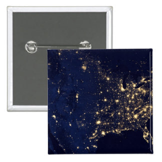 Nasa Lights from Space USA 15 Cm Square Badge