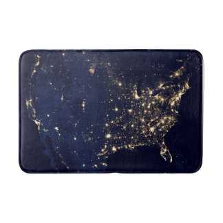 Nasa Lights from Space USA Bath Mat