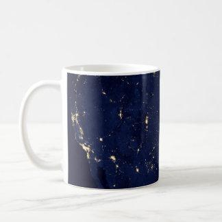 Nasa Lights from Space USA Coffee Mug
