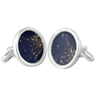 Nasa Lights from Space USA Cuff Links