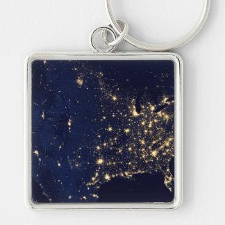 Nasa Lights from Space USA Key Ring