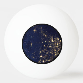 Nasa Lights from Space USA Ping Pong Ball