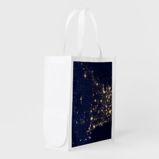 Nasa Lights from Space USA Reusable Grocery Bag