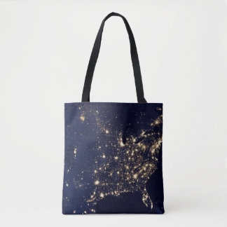 Nasa Lights from Space USA Tote Bag