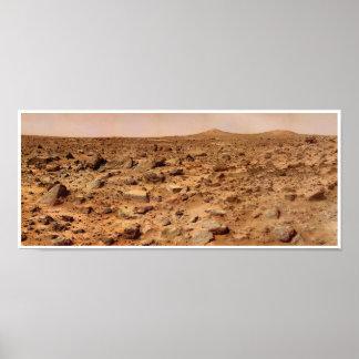 NASA Mars Landscape Twin Peaks Poster