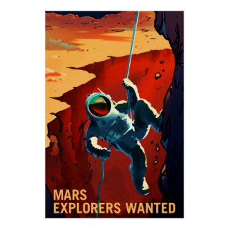NASA Mars Recruiting Poster - Explorers Wanted
