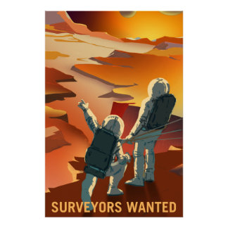 NASA Mars Recruiting Poster - Surveyors Wanted