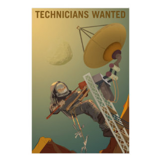 NASA Mars Recruiting Poster - Technicians Wanted