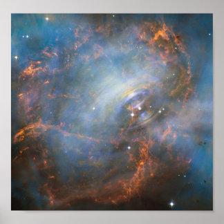 NASA poster of a crab nebula
