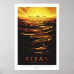 NASA - Retro Titan Tour Travel Poster