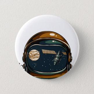 nasa satellite and the moon 6 cm round badge