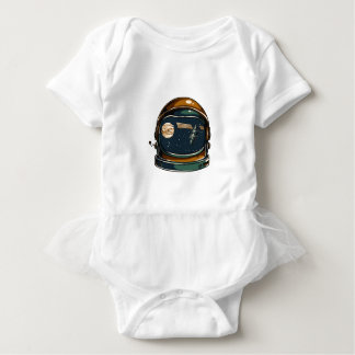 nasa satellite and the moon baby bodysuit