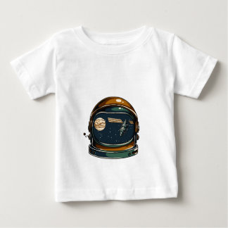 nasa satellite and the moon baby T-Shirt