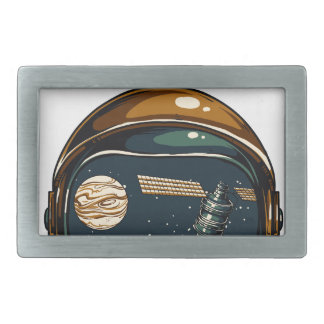 nasa satellite and the moon belt buckle