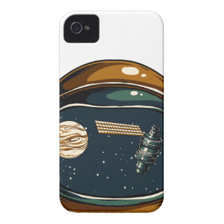 nasa satellite and the moon iPhone 4 cover