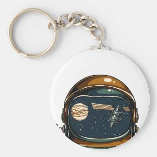 nasa satellite and the moon key ring