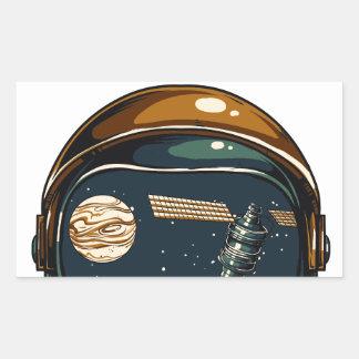 nasa satellite and the moon rectangular sticker