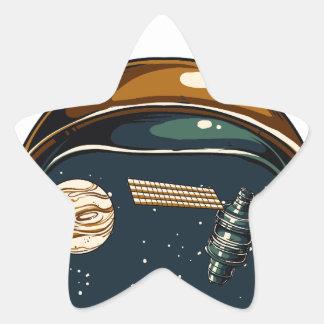 nasa satellite and the moon star sticker