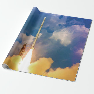 NASA Scout Rocket Launch Liftoff Wrapping Paper