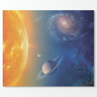 NASA Solar System Outer Space Collage