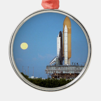 NASA Space Shuttle Atlantis STS-86 Launch Rollout Metal Ornament