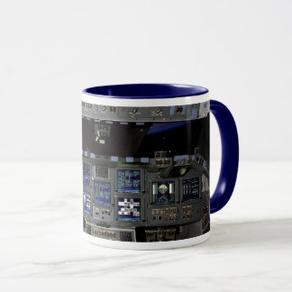 NASA Space Shuttle Cockpit Earth Orbit Window View Mug